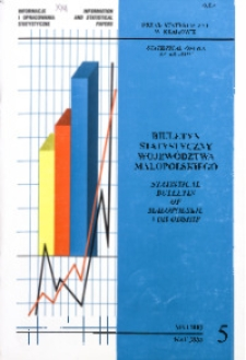Biuletyn Statystyczny województwa małopolskiego, 2000, nr 5