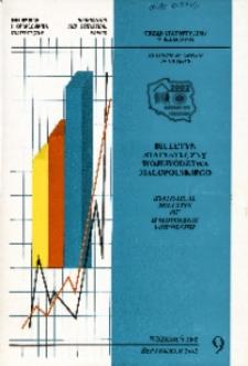 Biuletyn Statystyczny województwa małopolskiego, 2002, nr 9
