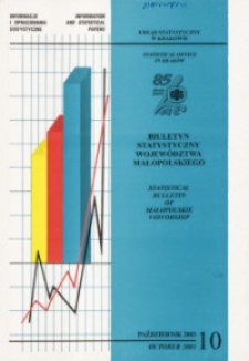 Biuletyn Statystyczny województwa małopolskiego, 2003, nr 10