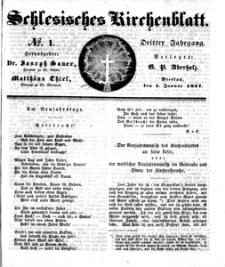 Schlesisches Kirchenblatt, 1837, Jg. 3, nr 1