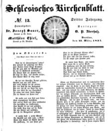 Schlesisches Kirchenblatt, 1837, Jg. 3, nr 13