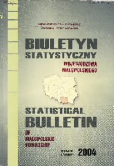 Biuletyn Statystyczny województwa małopolskiego, 2004, III kwartał