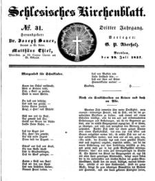 Schlesisches Kirchenblatt, 1837, Jg. 3, nr 31