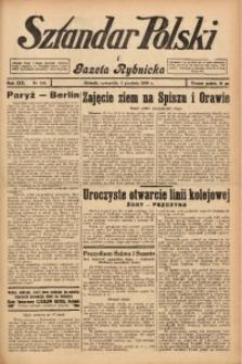 Sztandar Polski i Gazeta Rybnicka, 1938, R. 19, Nr. 140
