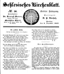 Schlesisches Kirchenblatt, 1837, Jg. 3, nr 50