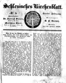 Schlesisches Kirchenblatt, 1838, Jg. 4, nr 5