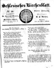 Schlesisches Kirchenblatt, 1838, Jg. 4, nr 12