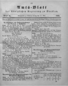 Amts-Blatt der Königlichen Regierung zu Breslau, 1891, Bd. 82, St. 21