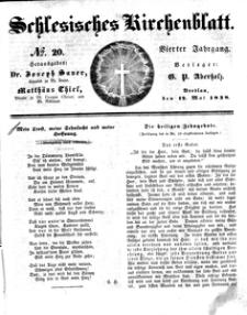 Schlesisches Kirchenblatt, 1838, Jg. 4, nr 20