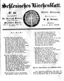Schlesisches Kirchenblatt, 1838, Jg. 4, nr 23
