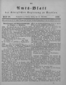 Amts-Blatt der Königlichen Regierung zu Breslau, 1892, Bd. 83, St. 48