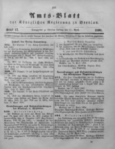 Amts-Blatt der Königlichen Regierung zu Breslau, 1894, Bd. 85, St. 17