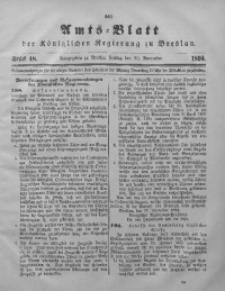 Amts-Blatt der Königlichen Regierung zu Breslau, 1894, Bd. 85, St. 48