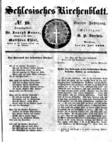 Schlesisches Kirchenblatt, 1838, Jg. 4, nr 29