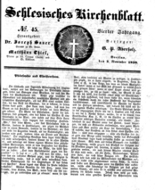 Schlesisches Kirchenblatt, 1838, Jg. 4, nr 45