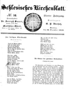 Schlesisches Kirchenblatt, 1838, Jg. 4, nr 52