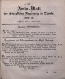 Amts-Blatt der Königlichen Regierung zu Oppeln, 1858, Bd. 43, St. 19