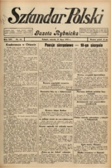 Sztandar Polski i Gazeta Rybnicka, 1932, R. 14, Nr. 82