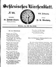 Schlesisches Kirchenblatt, 1841, Jg. 7, nr 22