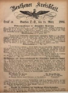 Beuthener Kreisbatt, 1880, St. 13