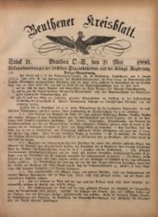 Beuthener Kreisbatt, 1880, St. 21