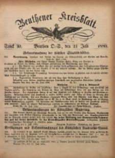 Beuthener Kreisbatt, 1880, St. 30