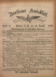 Beuthener Kreisbatt, 1880, St. 34