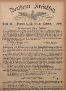 Beuthener Kreisbatt, 1880, St. 42