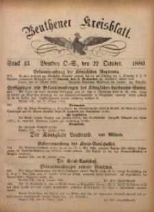 Beuthener Kreisbatt, 1880, St. 43