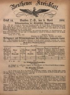 Beuthener Kreisbatt, 1881, St. 14