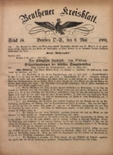 Beuthener Kreisbatt, 1881, St. 18
