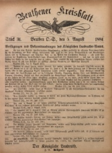 Beuthener Kreisbatt, 1881, St. 31