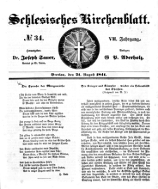 Schlesisches Kirchenblatt, 1841, Jg. 7, nr 34