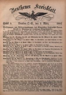 Beuthener Kreisbatt, 1882, St. 9