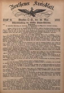 Beuthener Kreisbatt, 1882, St. 21