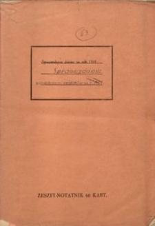 Sprawozdanie zespołów za r. 1961