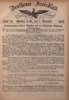 Beuthener Kreisbatt, 1882, St. 48