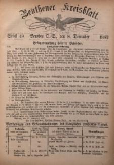 Beuthener Kreisbatt, 1882, St. 49