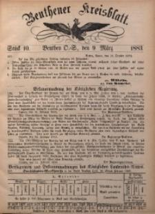 Beuthener Kreisbatt, 1883, St. 10