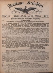 Beuthener Kreisbatt, 1883, St. 43
