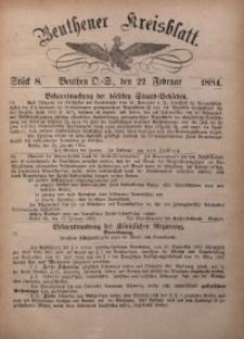 Beuthener Kreisbatt, 1884, St. 8