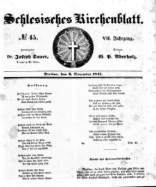 Schlesisches Kirchenblatt, 1841, Jg. 7, nr 45