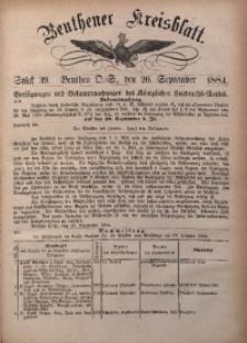 Beuthener Kreisbatt, 1884, St. 39