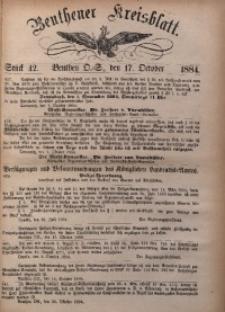 Beuthener Kreisbatt, 1884, St. 42