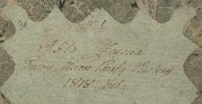 Księga zgonów Pilica – wieś 1818