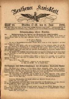 Beuthener Kreisbatt, 1886, St. 23
