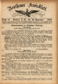 Beuthener Kreisbatt, 1886, St. 47