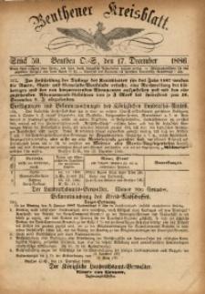 Beuthener Kreisbatt, 1886, St. 50