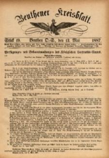 Beuthener Kreisbatt, 1887, St. 19