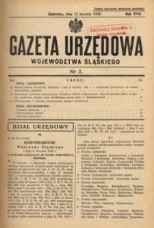 Gazeta Urzędowa Województwa Śląskiego, 1938, R. 17, nr 2